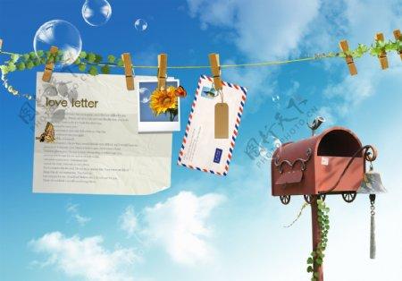 邮局广告设计模板