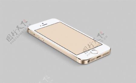 iphone5S香槟金平躺模图片