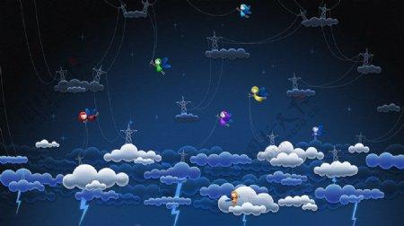 云闪电壁纸网站背景图