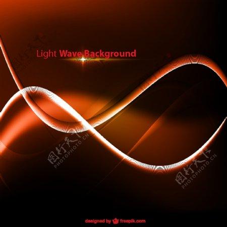 橙色波浪状辉光背景