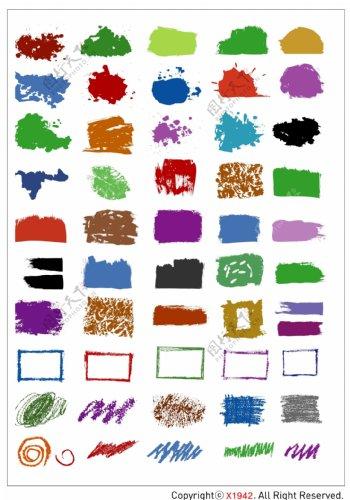 笔刷设计应用背景图案矢量素材AI格式0293