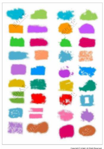 笔刷设计应用背景图案矢量素材AI格式0308