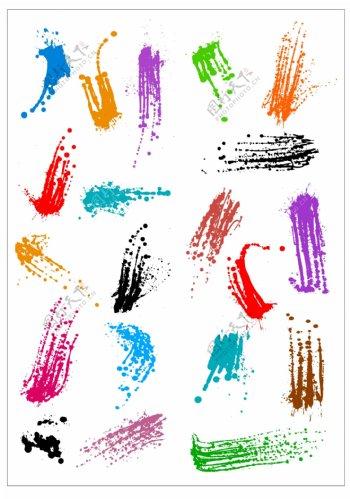 笔刷设计应用背景图案矢量素材AI格式0321