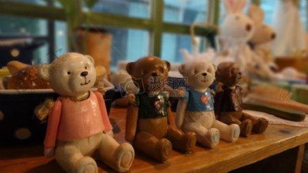 可爱的小熊玩偶