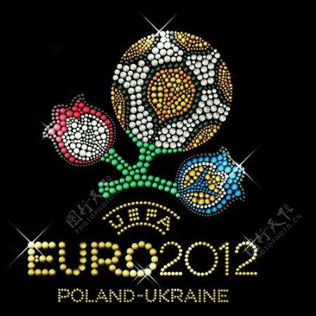 烫钻主题2012欧洲杯徽章标记足球免费素材