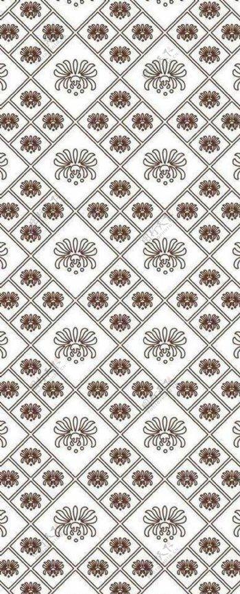 典雅中式背景墙纸图案装修效果图