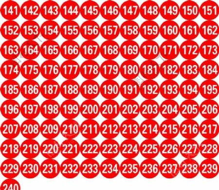 圆型号码牌