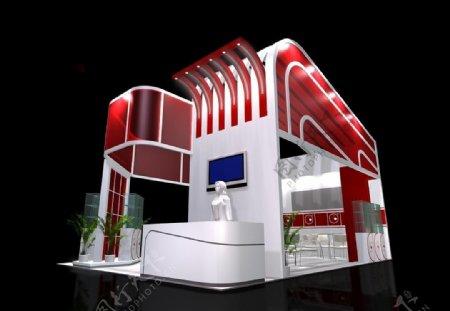 展厅模型展览设计MAX模型