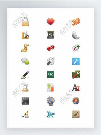 常用彩色SVG矢量格式图标集实用程序集