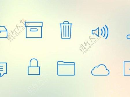 iOS7选项卡图标sketch素材