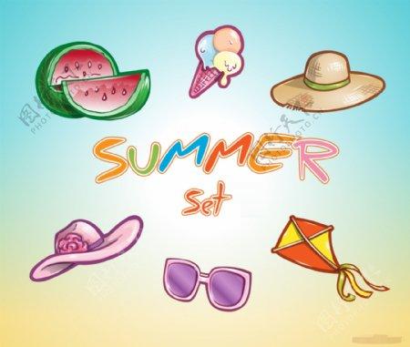 夏天Icons图标设计