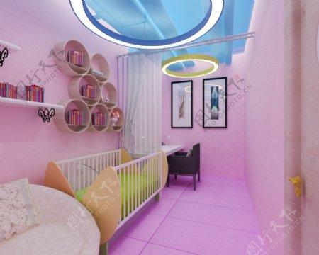 母婴室效果图模型max文件素材