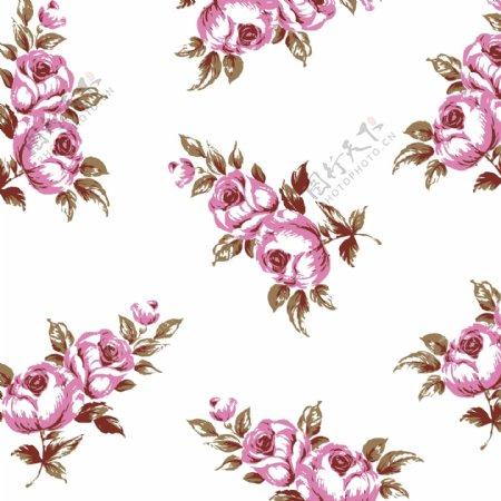 复古玫瑰花纹