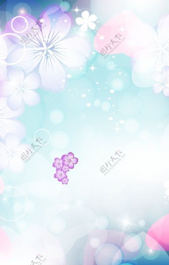 粉色花朵梦幻背景素材