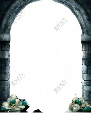 复古欧式拱形门png免扣元素