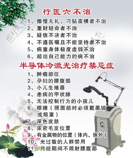 行医六不治水墨画海报