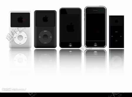 苹果ipod产品矢量素材