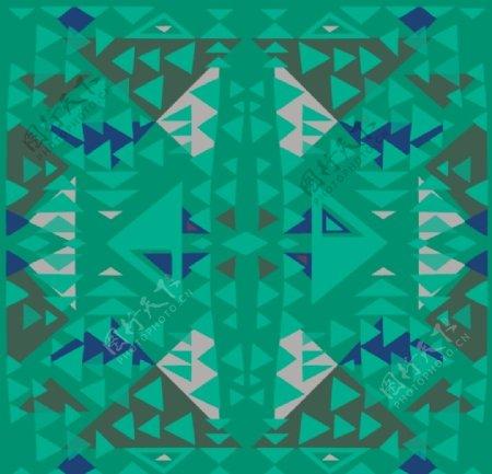 数码民族风菱形三角几何布匹图案