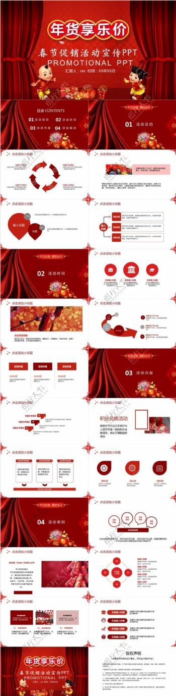 创意年货春节促销活动营销策划PPT模板