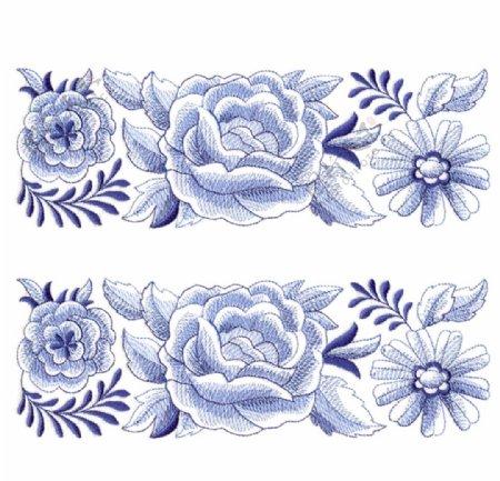 绣花花边植物植物花纹花