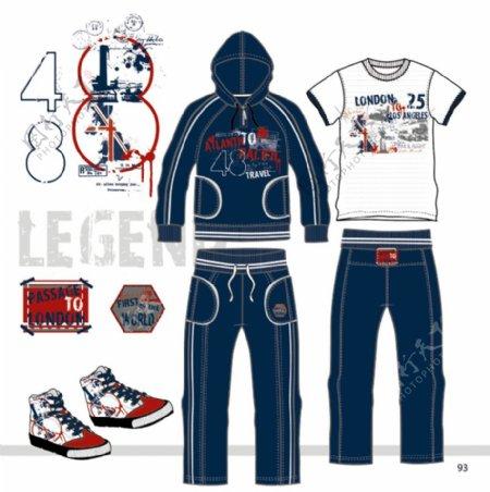 卫衣设计版型款式两件套