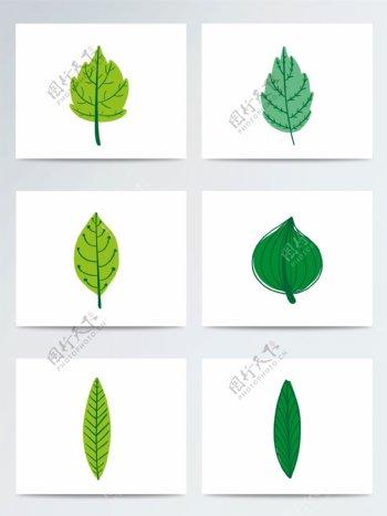 惊蛰草木绿叶子ai矢量元素