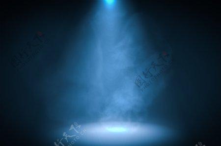 蓝色光线光芒背景
