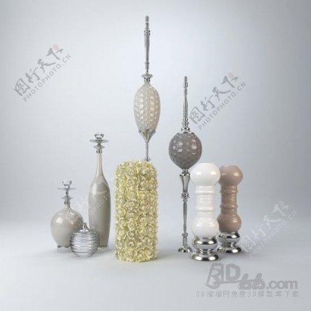 欧式家具摆件模型博古架填充装饰品