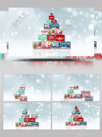 圣诞节节日祝福视频圣诞老人