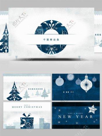 视差特效圣诞节日祝福动画AE模板