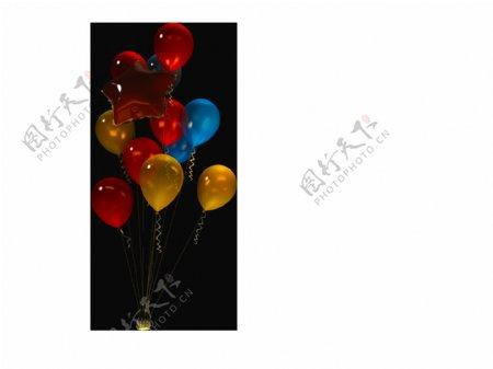气球3d模型素材设计