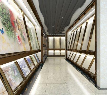 瓷砖店面模型3d设计模板