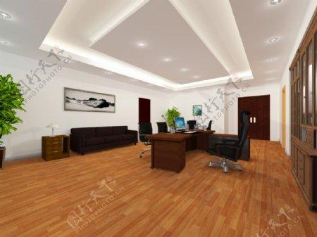 中式办公室3d模型max