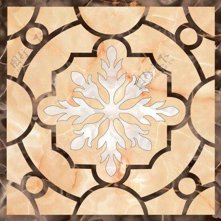 拼花米黄瓷砖贴图