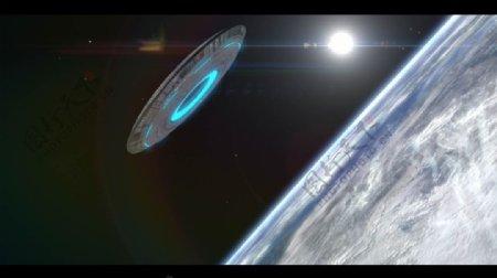外太空飞来的ufo和logo揭示ae模板