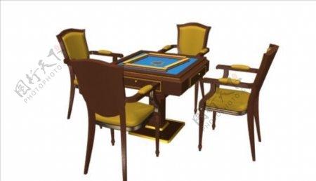 麻将桌3d模型