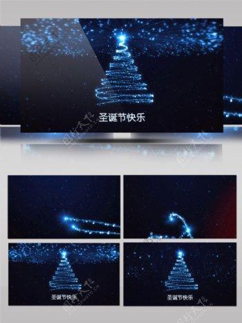 闪亮粒子节日祝福圣诞节Pr模板