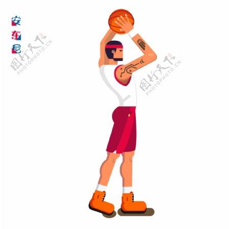 NBA全明星阵容安东尼篮球运动员