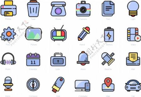 简单的系列化icon设计