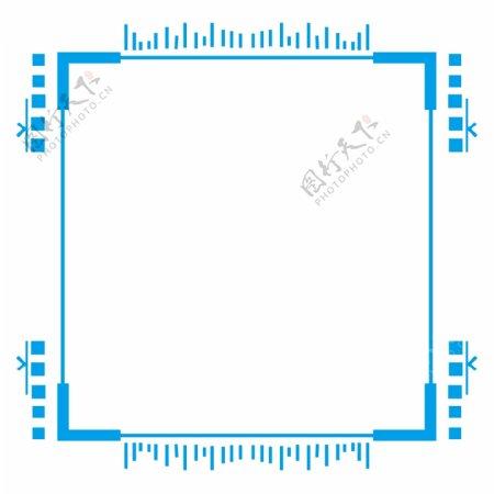 蓝色纹理边框蓝色矩形渐变蓝色可商用简约
