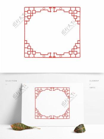 中国风正方形纹理边框花纹可商用