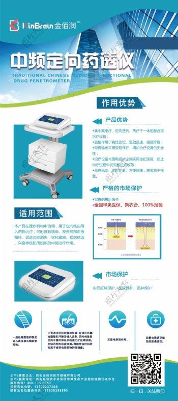 医药器材易拉宝x展架设计
