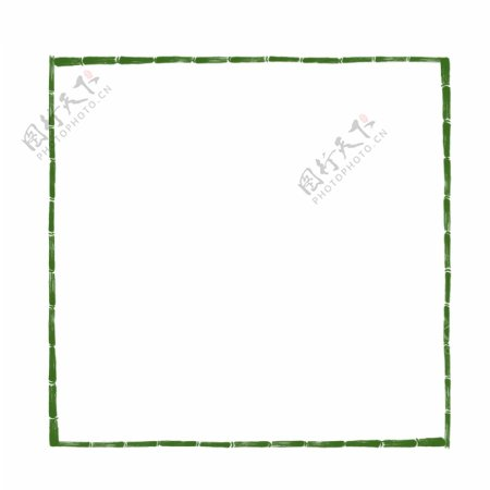绿色竹子纹理边框
