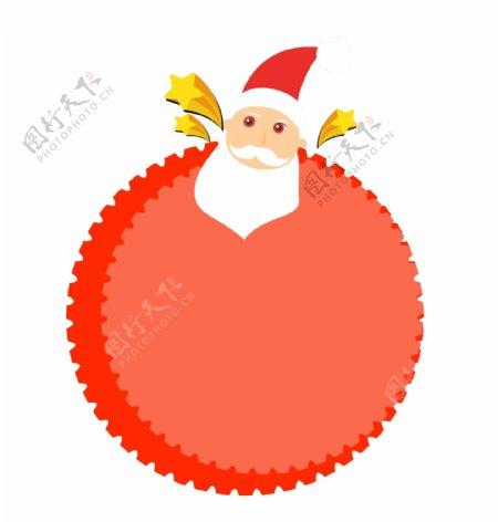 圣诞老人趣味卡通边框