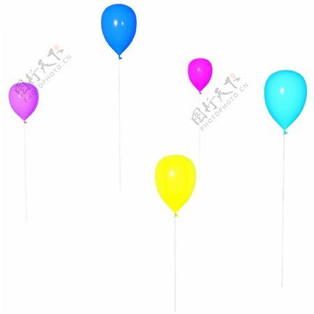 节日庆祝彩色立体C4D漂浮气球