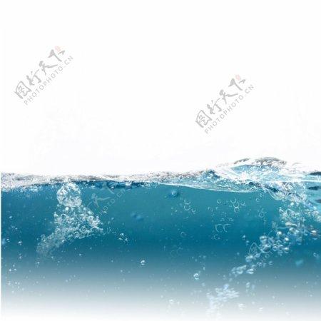 动感水浪蓝色水元素