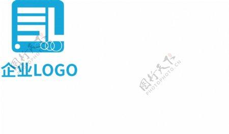 高端时尚企业蓝色LOGO