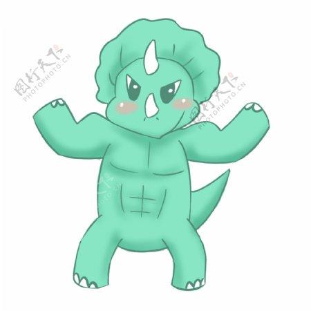 生气的恐龙装饰插画