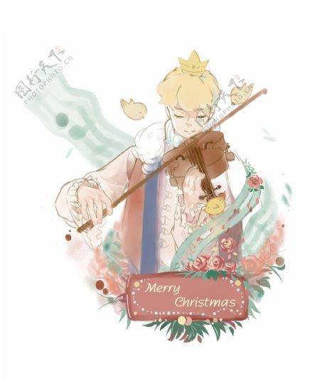 圣诞节节日祝福语手绘