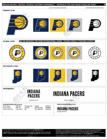 新NBA印第安纳步行者logo